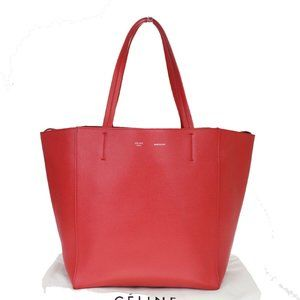 CELINE PARIS Cabas Phantom Shoulder Tote Bag Leath